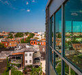 View of a run down residential area from a parking garage in baltimore maryland Stock Image