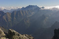 View from Rysy peak in High Tatras