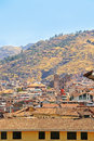 View of the Sacred valley, Peru Royalty Free Stock Image