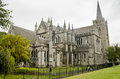View of Saint Patrick cathedral in Dublin, Ireland, cloudy day Royalty Free Stock Photo