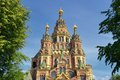 View of saint peter and paul s cathedral in the russian city of peterhof near st petersburg russia Royalty Free Stock Photo