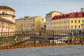 View of saint petersburg moyka river in summer day Stock Photography
