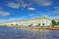 View of Saint Petersburg from Neva river Royalty Free Stock Photography