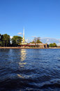 View of Saint Petersburg from Neva river. The Peter and Paul For Royalty Free Stock Image