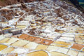View of Salt ponds, Maras, Cuzco, Peru Royalty Free Stock Photo