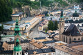 View of Salzburg in the evening, Austria Royalty Free Stock Photo