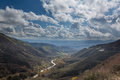 View of San Bernadino Rim of World Highway Royalty Free Stock Photography