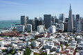 View of San Francisco buildings Royalty Free Stock Photos