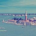 View of San Giorgio island, Venice, Italy Royalty Free Stock Photo