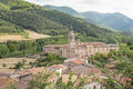 View of san millan de la cogolla village la rioja sp views spain Stock Photography