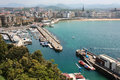View of san sebastian from mount urgull may in san sebastian spain is situated on the bay biscay Royalty Free Stock Photo