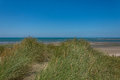 View from the sanddunes at Ynyslas beach Royalty Free Stock Photo