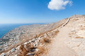 View on Santorini Greece from Ancient Thera Royalty Free Stock Photo