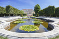 View on Schonbrunn Palace and park in Vienna Royalty Free Stock Photo
