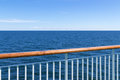 View at the sea from passenger ship Royalty Free Stock Photo