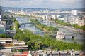 View of the seine from top eiffel tower Royalty Free Stock Photos