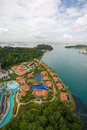 View of the Sentosa island in Singapore Royalty Free Stock Photo