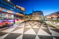 View of Sergels Torg at night, in Norrmalm, Stockholm, Sweden. Royalty Free Stock Photo