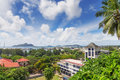 View of Seychelles capital Victoria, Mahé Royalty Free Stock Image