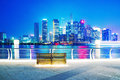 View of Shanghai financial district at night Royalty Free Stock Photo