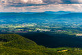 View of the shenandoah valley and appalachian mountains from george washington national forest virginia mill mountain trail on Royalty Free Stock Photos