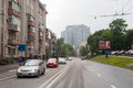 View on Shmitovsky Street in Moscow 13.07.2017