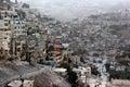 View of silwan or kfar shiloah arab neighborhood near old city of jerusalem israel Stock Photo