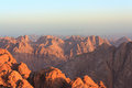View of the Sinai mountains at dawn Royalty Free Stock Photo