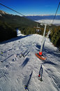 View from ski lift in bansko bulgaria Stock Photos