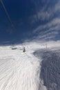 View ski lift caucasus mountains georgia ski resort gudauri Royalty Free Stock Image