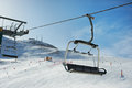 View of the ski slopes and chair lifts Royalty Free Stock Images