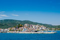 View of skiathos town and harbour in greece Royalty Free Stock Images