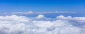 View of the sky and clouds from the airplane Royalty Free Stock Photo