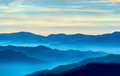 View smoky mountains route newfound gap Stock Photography