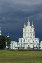 View of the smolny cathedral general saint petersburg russia Stock Photography