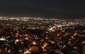 View of Smyrna at night, Turkey. Royalty Free Stock Photo