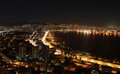 View of Smyrna at night, Turkey. Stock Photography