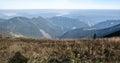 View from Snilovske sedlo in autumn Mala Fatra mountains in Slovakia