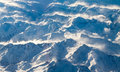 View of snow-covered Pyrenees mountains Royalty Free Stock Photography