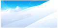 The view of snowing over snowcapped mountain Royalty Free Stock Images