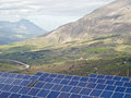 View solar panels madonie mountains sicily Royalty Free Stock Images