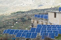 View solar panels madonie mountains sicily Stock Photo