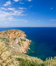 View of Sounio cape, Attica, Greece Royalty Free Stock Image