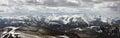 View of the south chuya ridge aktru altai Royalty Free Stock Image