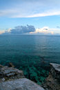View from the southern spot you can visit in isla mujeres mexico Royalty Free Stock Image