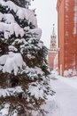 View on Spasskaya Tower in winter. Moscow. Russia Royalty Free Stock Photo