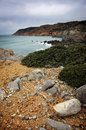View spectacular cliffs guincho beach sintra hills portugal Royalty Free Stock Photo