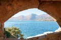 View from spinalonga fortress old crete greece Royalty Free Stock Photography