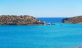 The view on spinalonga island crete greece Stock Photos