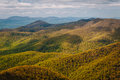 View of spring color in the Blue Ridge Mountains, in Shenandoah Royalty Free Stock Photo
